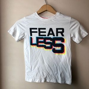 "Other - 🧩3/$20 > Graphic tee ""Fearless"" Size 8 Boys"